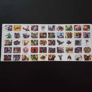 🚚 Set 2 of 6 Marvel Avengers Mini Square Sticker Stickers