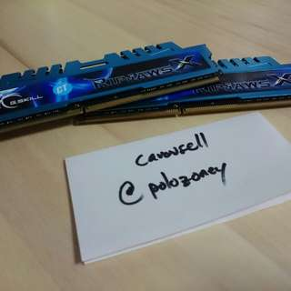 16gb kit DDR3 G.Skill Ripjawz X Ram (2x8gb)