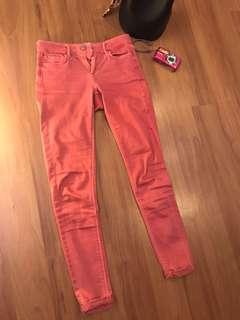 (24 XS) TOPSHOP Pink Skinny Jeans PRELOVED