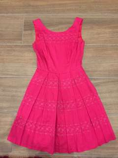 Review size 8 pink dress