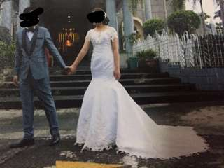 Complete Set: Wedding Gown and Suit