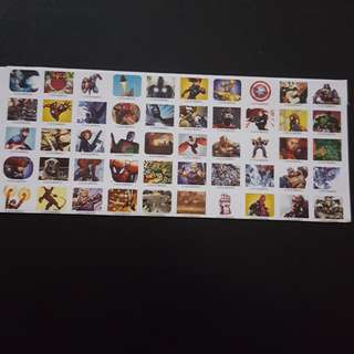 🚚 Set 5 of 6 Marvel Avengers Mini Square Sticker Stickers