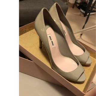 Brand new Miu Miu patent leather shoes