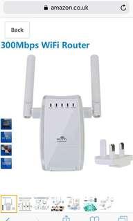 WiFi Router Booster Extender Amplifier Wireless Access Point / WiFi Long Range Wireless N Mini AP Router Network Dual External Antenna Complies IEEE802.11n/g/b with WPSeless-N 300 Mbps IEEE802.11n/g/b mit WPS