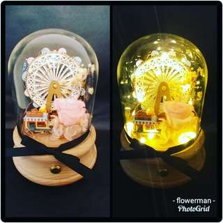 Flowerman preserved flower music box