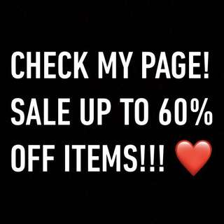 UP TO 60% OFF ITEMS! ❤️