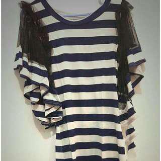 Baju size fit tol L besar ( bahan melar sis)