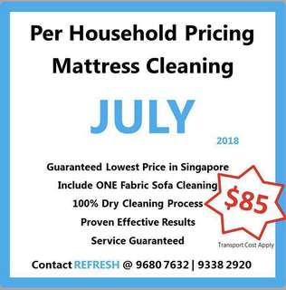 (July' 18) Mattress Cleaning