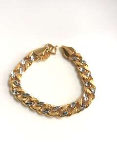 Two Tones Gold Plated Bracelet
