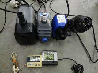 Temperature Meter, PH Meter, Water Pump