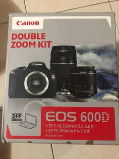 Canon EOS 600D with 2 lens