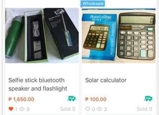 Solar and scientific calculator,bluetooth speaker,selfie stick with speaker and mirror and portable projector