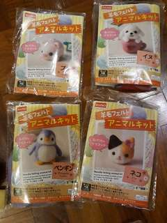 Needle Felting Animals with felting needle n sponge base