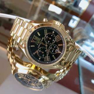 AUTHENTIC MICHAEL KORS Bradshaw Black Chronograph