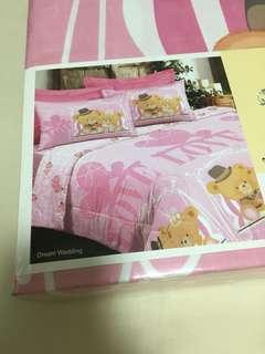Wedding cute queen size bedsheet