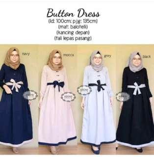 Button dress by Elsire [free ongkir jabodetabek]