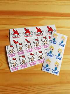 Customize character name sticker label / iron label  / clothing label