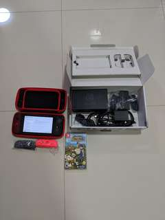 Nintendo switch with game . Like new
