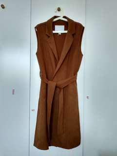 Wish wool blend sleeveless coat