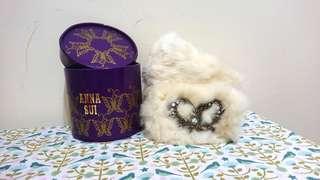 正品Anna Sui兔毛圍脖 附盒