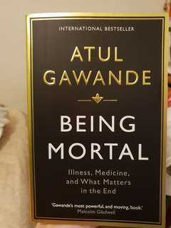 Being Mortal by Atul Gawande BN free delivery