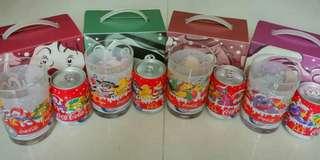 2001年 麥當奴 x 可口可樂 紀念罐+杯 連盒1套