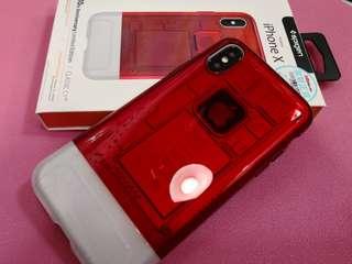 三禾電氣 Spigen IPhone X 10th Anniversary Limited Edition CLASSIC C1 case 紅色 手機殼 機套