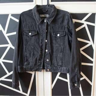 Topshop washed black denim jacket