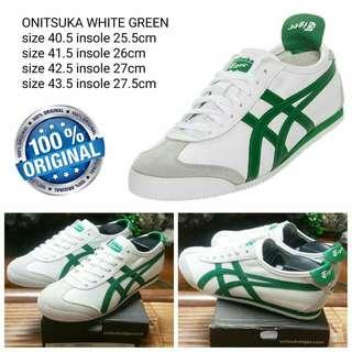 Sepatu Onitsuka Original White Green