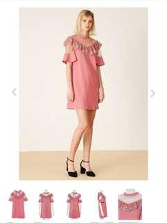 🚚 全新 日本正品Lilybrown超美花卉刺繡洋裝/連身裙