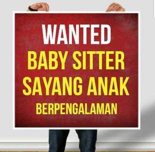 Wanted baby sitter untuk anak usia 17 bulan