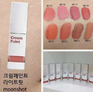 (Cheek+ lip) Moonshot cream paint assorted