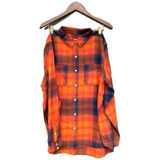 Mossimo Plaid Flannel Oversized Boyfriend Shirt
