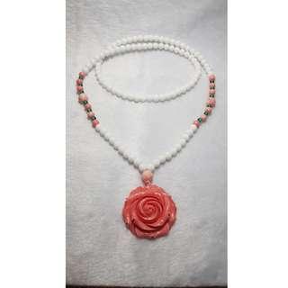2 Pcs Tridacna Necklace / 3 Round Bracelet (砗磲)