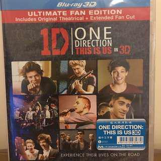 """*全新* 1D One Direction """"This Is Us In 3D"""" Blu-ray"""