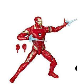 Marvel Legends Iron Man Mark L (with light-up arc reactor) Figure, Mint