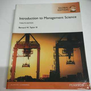 MBA - Introduction to Management Science