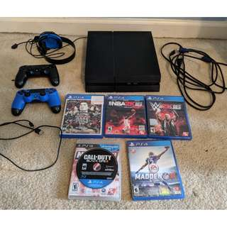 PS4 Video Game with 5 games (fixed Price)