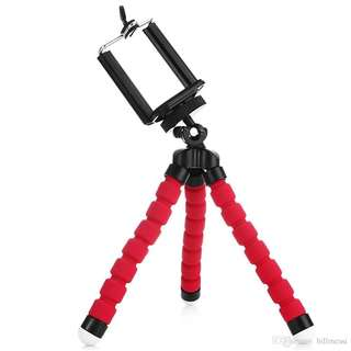MINI Flexible Octopus tripod for mobile phones and camera blue and red