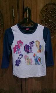 PL!! Kaos little pony lengan panjang navy grey