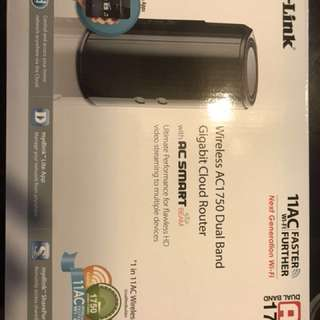 Dlink Router Wireless AC1750 Dual Band Gigabit Cloud Router