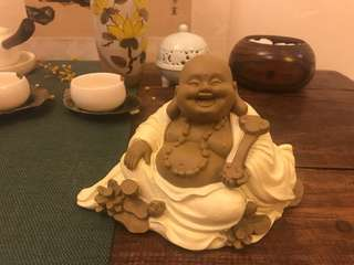 Smiling Buddha (with wooden stand)