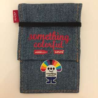 Levi's x Glaceau x Jan Lamb 林海峰 牛仔布電話袋 iPhone Cell Mobile Phone Jeans holder case 電話套