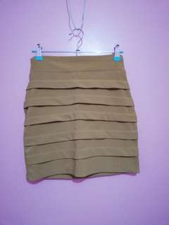 Nude Fitted Skirt