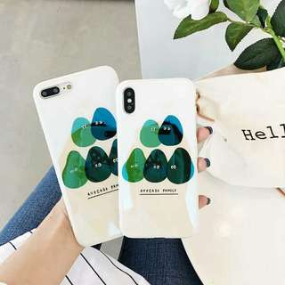 Advocado Family Phone Case For iPhone 6/7/8/Plus/X