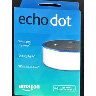 Echo Dot (2nd Gen) White - Smart speaker with Alexa