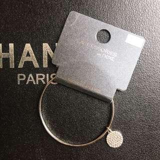 🚚 全新❤️英國next銀色水鑽飾簡約手環