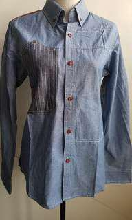 Junya Watanabe comme des garcons denim patch shirt new !