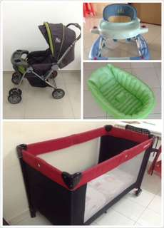 Walker+stroller+bathtub+playpen