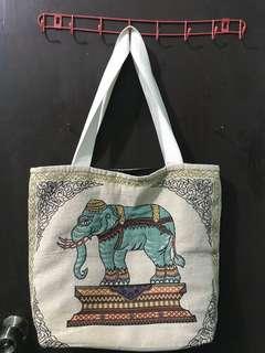 Elephant print bag from bangkok